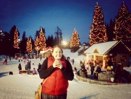 Celebrating Christmas on Grouse Mountain in Vancouver, Canada