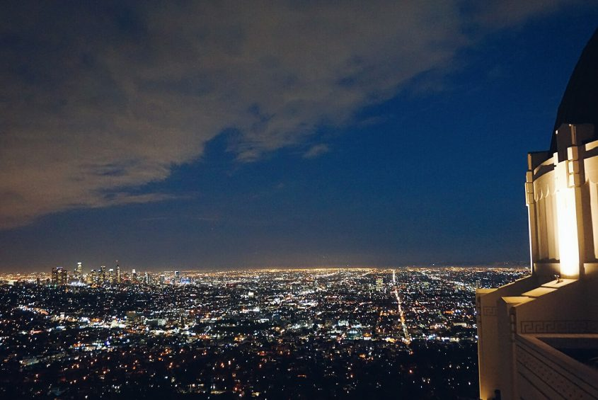 Things to do in LA: see sunset and LA nighttime views from Griffith Observatory