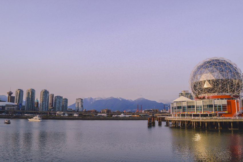 Photograph the Vancouver skyline from Olympic Village